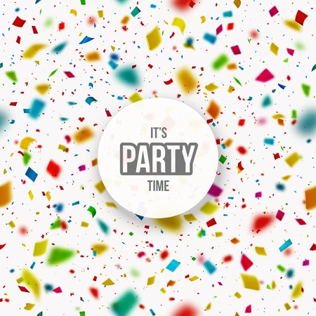 birthday party: Confetti background, its party time, eps 10 Illustration