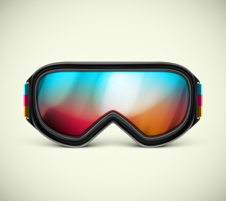 ski goggles: Isolated ski goggles, eps 10