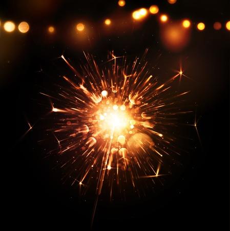 sparkler: Holiday background with sparkler, eps 10 Illustration