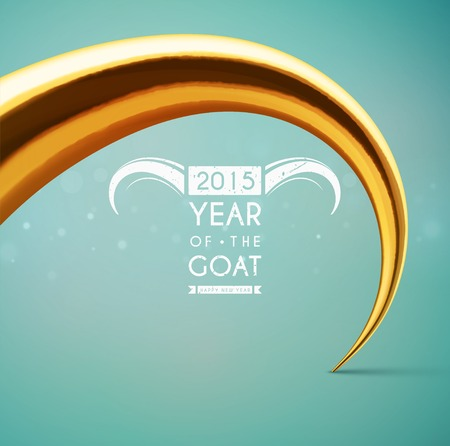 Background with horn, 2015 year of the goat, eps 10 Vector