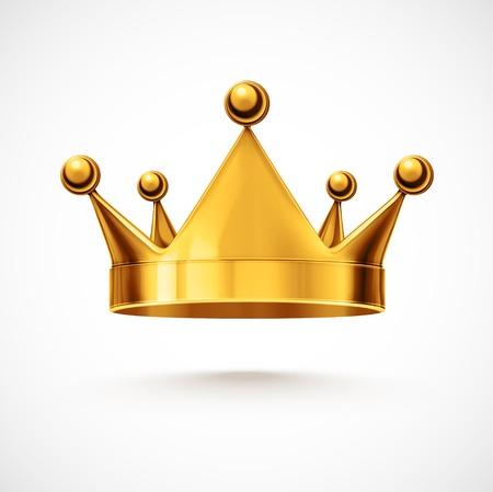 corona de rey: Corona de oro aislada, eps 10