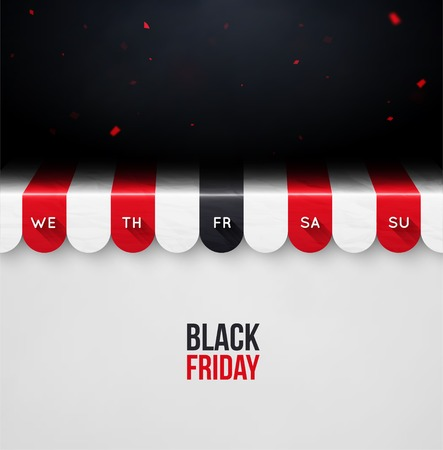 Black friday, concept background, eps 10 Vector
