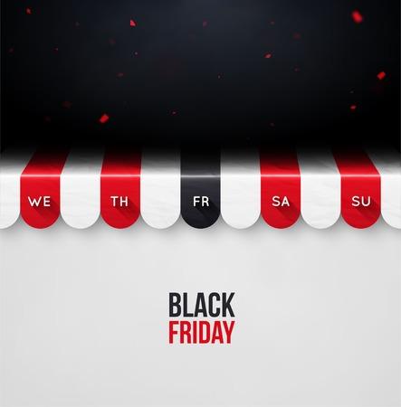 Black friday, concept background, eps 10 Vector