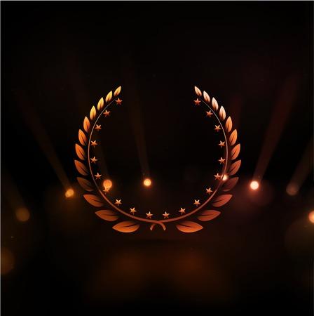 Winner background, gold laurel wreath, eps 10 Vector