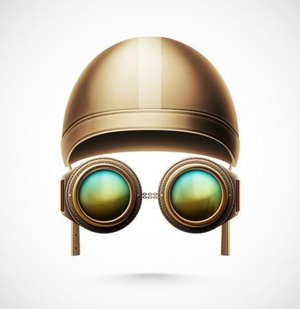 fighter pilot: Accessories pilot (helmet and glasses), eps 10