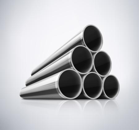 Stack z kovových trubek, eps 10 Reklamní fotografie - 32544782
