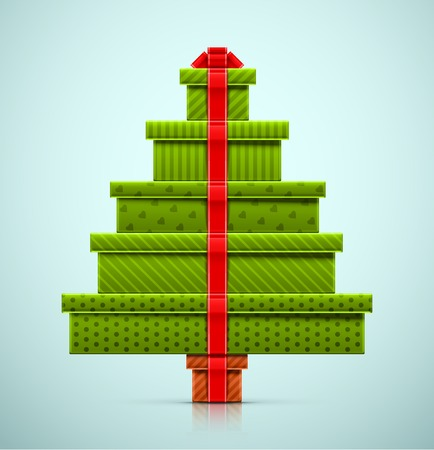 Christmas tree of gifts, eps 10 Vector