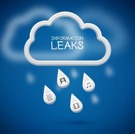 Information Leaks, concept background, eps 10