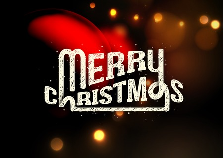 december holiday: Merry Christmas, blurred background, eps 10
