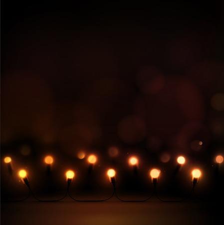 Christmas lights, garlands, eps 10