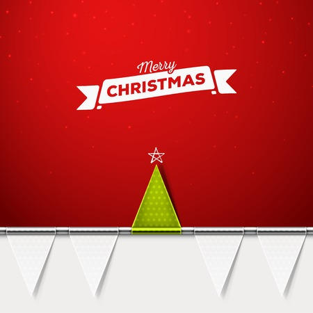 Christmas tree, holiday background, eps 10 Ilustrace