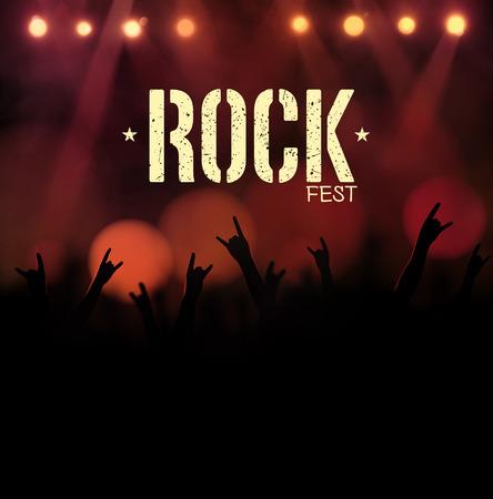 Rock festival, poster, eps 10 Illustration