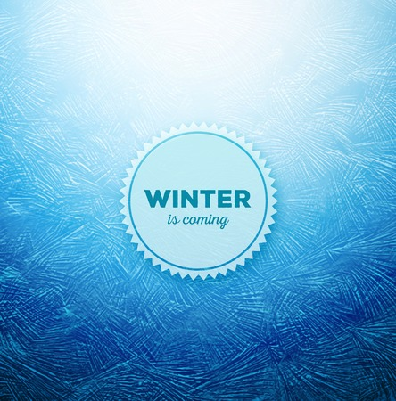 cold weather: Ice background, winter is coming, eps 10 Illustration