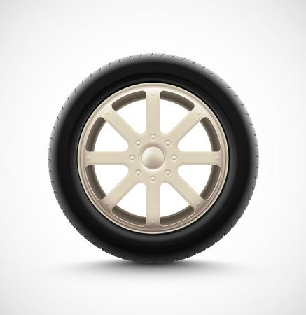 Isolated car wheel, eps 10 Vector