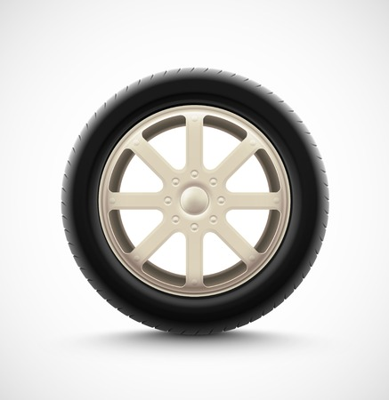 Isolated car wheel, eps 10