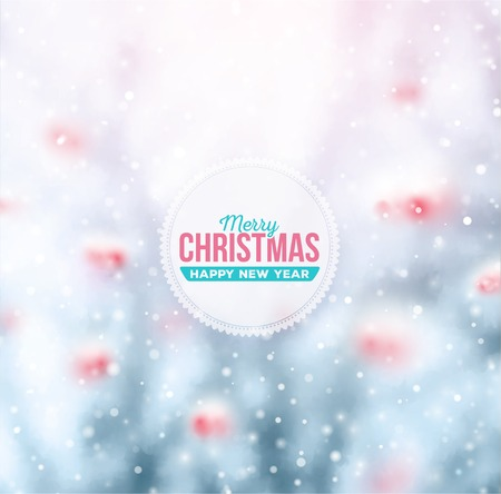Winter background, Merry Christmas, Happy New Year, eps 10
