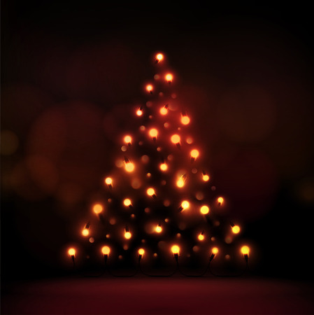 Abstract Christmas tree of lights, eps 10