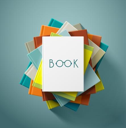 Stack knih, eps 10 Reklamní fotografie - 33640694