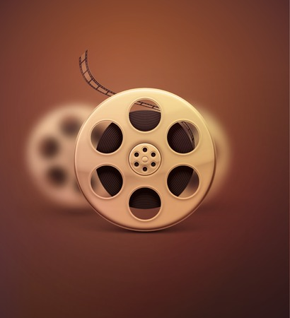 Film reel, retro cinema, eps 10