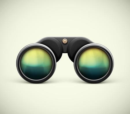 Isolated black binoculars, eps 10 Vectores
