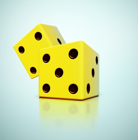 Two yellow dices Ilustrace