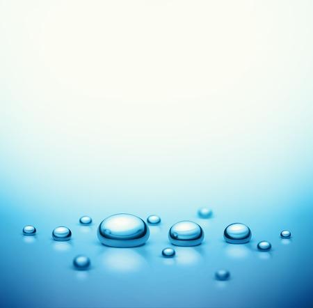 qu�mica: Las gotas de agua de fondo Vectores