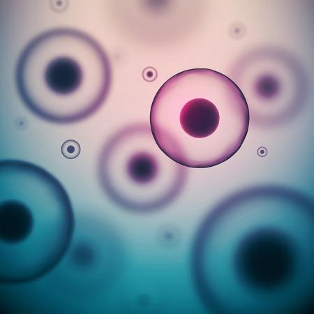 Wetenschap achtergrond met cellen, eps 10 Stock Illustratie