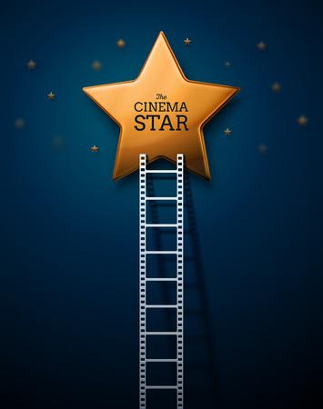 Manier om de sterren van de cinema, eps 10 Stock Illustratie