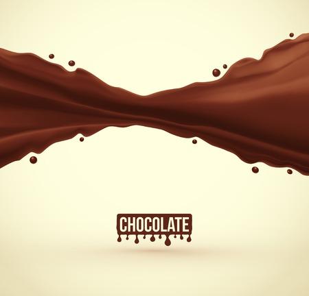 チョコレート スプラッシュ バック グラウンド、eps 10