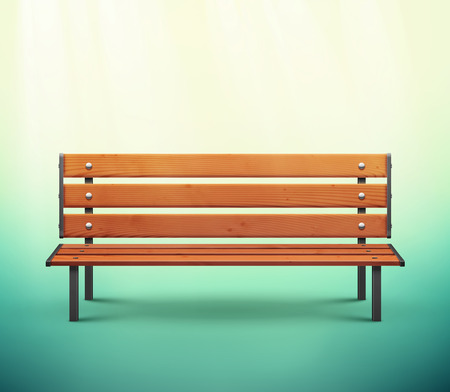 One isolated bench, eps 10