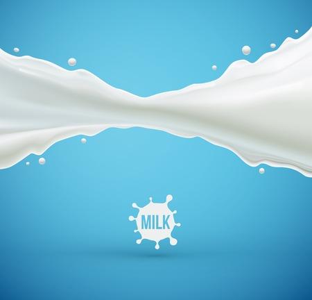 Milk splash background, eps 10  イラスト・ベクター素材