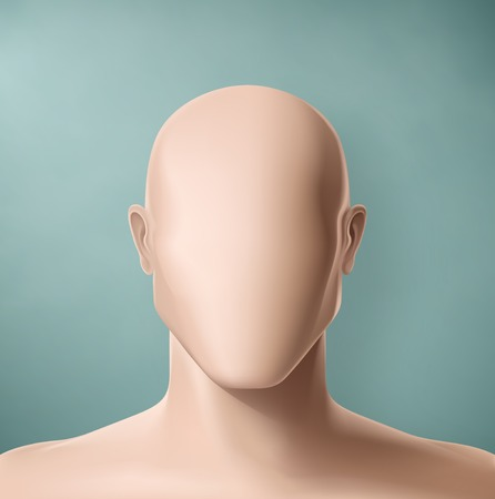 face: Man portrait, faceless, eps 10 Illustration