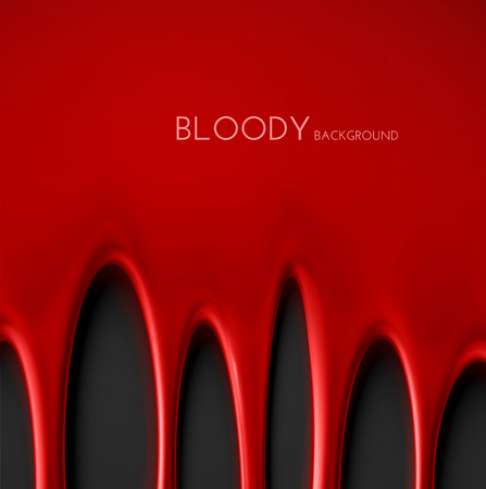 Dripping blood background, eps 10
