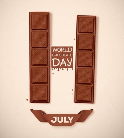 Jour mondial du chocolat, le 11 Juillet, eps 10 Banque d'images - 35925577