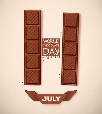 World Chocolate Day, 11 July, eps 10 Ilustrace