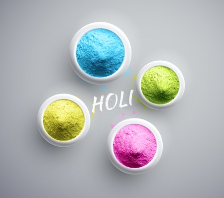 Powder paint, Holi, Ilustrace