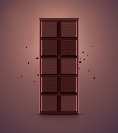 dark chocolate: Dark chocolate bar Illustration