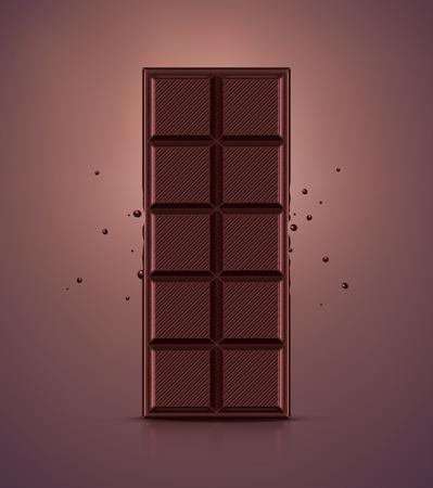 Dark chocolate bar Illustration