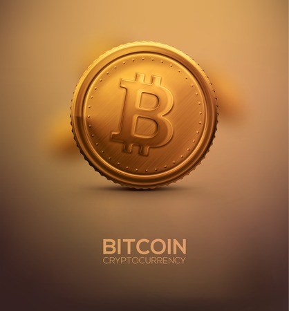 Gold Bitcoin, cryptocurrency Reklamní fotografie - 36482334