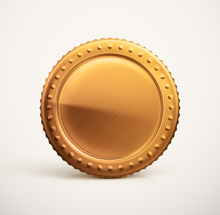Isolated gold coin Ilustrace