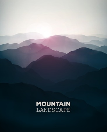 paisaje naturaleza: Fondo de la monta�a, paisaje Vectores