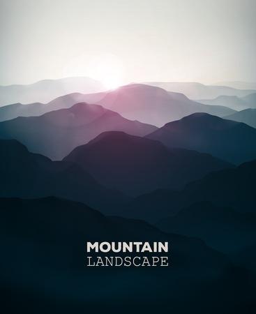 loin: Montagne fond, paysage Illustration