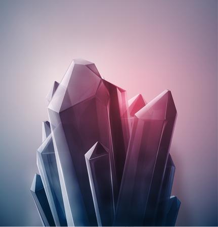 明るい貴重な水晶、eps 10  イラスト・ベクター素材