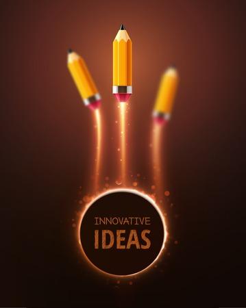 革新的なアイデア、概念の背景  イラスト・ベクター素材