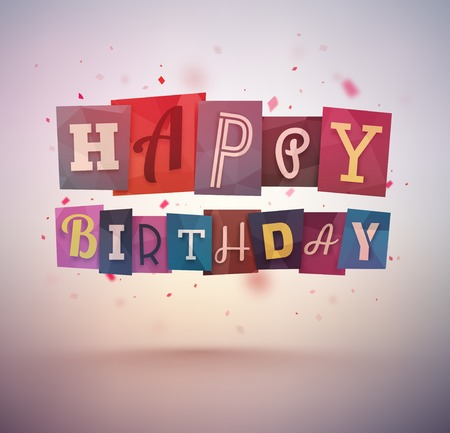 birthday celebration: Happy Birthday, greeting card, eps 10