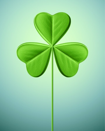 Isolated shamrock, Saint Patricks Day Ilustrace