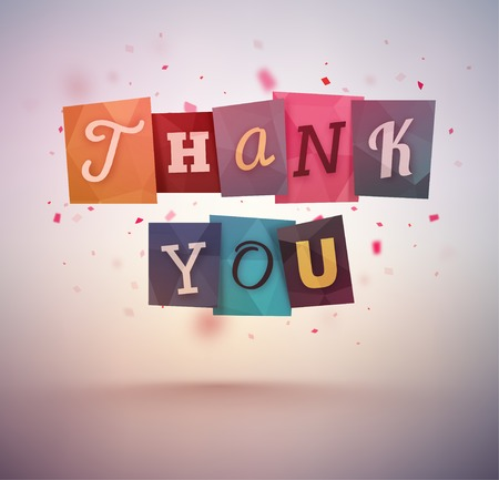 Thank you message Illustration