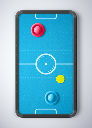 Air hockey table Ilustrace