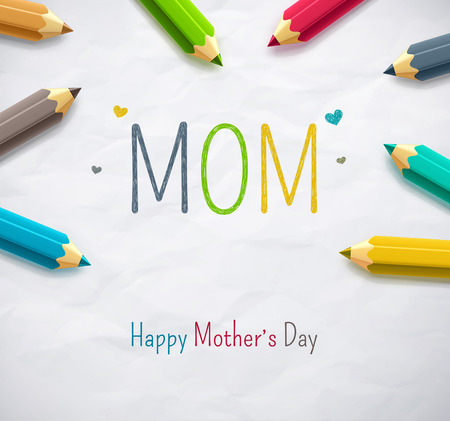 Happy Mothers Day, eps 10 Ilustrace