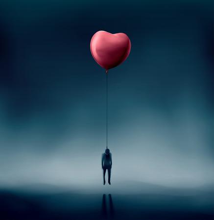 不幸な愛、吊された男  イラスト・ベクター素材